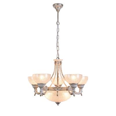 Светильник подвесной Arte lamp A5861LM-3-5WG Fedeltaлюстры подвесные классические<br><br><br>S освещ. до, м2: 24<br>Крепление: крюк<br>Тип лампы: накаливания / энергосбережения / LED-светодиодная<br>Тип цоколя: E27<br>Количество ламп: 8<br>Диаметр, мм мм: 620<br>Длина цепи/провода, мм: 600<br>Длина, мм: 620<br>Высота, мм: 460<br>MAX мощность ламп, Вт: 60W<br>Общая мощность, Вт: 60W