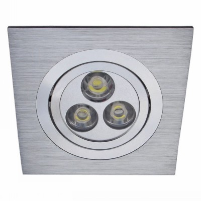 Светильник встраиваемый Arte lamp A5902PL-1SS TechnikaКвадратные LED<br>Встраиваемые светильники – популярное осветительное оборудование, которое можно использовать в качестве основного источника или в дополнение к люстре. Они позволяют создать нужную атмосферу атмосферу и привнести в интерьер уют и комфорт. <br> Интернет-магазин «Светодом» предлагает стильный встраиваемый светильник ARTE Lamp A5902PL-1SS. Данная модель достаточно универсальна, поэтому подойдет практически под любой интерьер. Перед покупкой не забудьте ознакомиться с техническими параметрами, чтобы узнать тип цоколя, площадь освещения и другие важные характеристики. <br> Приобрести встраиваемый светильник ARTE Lamp A5902PL-1SS в нашем онлайн-магазине Вы можете либо с помощью «Корзины», либо по контактным номерам. Мы доставляем заказы по Москве, Екатеринбургу и остальным российским городам.<br><br>S освещ. до, м2: 2<br>Тип лампы: LED-светодиодная<br>Тип цоколя: LED<br>Количество ламп: 1<br>Ширина, мм: 92<br>MAX мощность ламп, Вт: 3<br>Диаметр, мм мм: 92<br>Диаметр врезного отверстия, мм: 76<br>Высота, мм: 65<br>Цвет арматуры: серебристый/алюминий