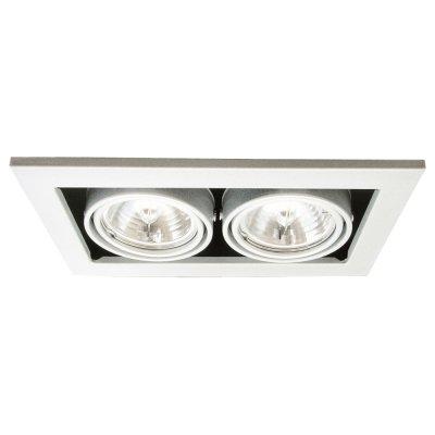 Светильник Arte lamp A5930PL-2WH TechnikaКарданные<br><br><br>S освещ. до, м2: 7<br>Тип лампы: галогенная<br>Тип цоколя: G5.3<br>Количество ламп: 2<br>Ширина, мм: 250<br>MAX мощность ламп, Вт: 50<br>Диаметр, мм мм: 145<br>Диаметр врезного отверстия, мм: 220*125<br>Высота, мм: 120