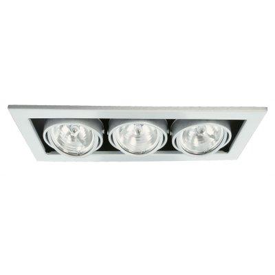 Светильник встраиваемый Arte lamp A5930PL-3SI TechnikaКарданные<br><br><br>S освещ. до, м2: 10<br>Тип лампы: галогенная<br>Тип цоколя: G5.3<br>Цвет арматуры: серебряный/сталь<br>Количество ламп: 3<br>Ширина, мм: 355<br>Диаметр, мм мм: 145<br>Диаметр врезного отверстия, мм: 330*125<br>Длина, мм: 355<br>Высота, мм: 120<br>MAX мощность ламп, Вт: 50