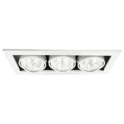 Светильник тройной Arte lamp A5930PL-3WH TechnikaКарданные<br><br><br>S освещ. до, м2: 10<br>Тип лампы: галогенная<br>Тип цоколя: G5.3<br>Количество ламп: 3<br>Ширина, мм: 355<br>MAX мощность ламп, Вт: 50<br>Диаметр, мм мм: 145<br>Диаметр врезного отверстия, мм: 330*125<br>Высота, мм: 120
