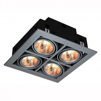 Светильник потолочный Arte lamp A5930PL-4SI TechnikaКарданные<br><br><br>Тип цоколя: G5,3<br>Количество ламп: 4<br>MAX мощность ламп, Вт: 50<br>Размеры: H12xW25xL25<br>Цвет арматуры: серебро