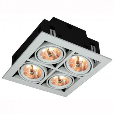 Светильник потолочный Arte lamp A5930PL-4WH TechnikaКарданные светильники<br><br><br>Цвет арматуры: белый<br>Количество ламп: 4<br>Размеры: H12xW25xL25<br>MAX мощность ламп, Вт: 50