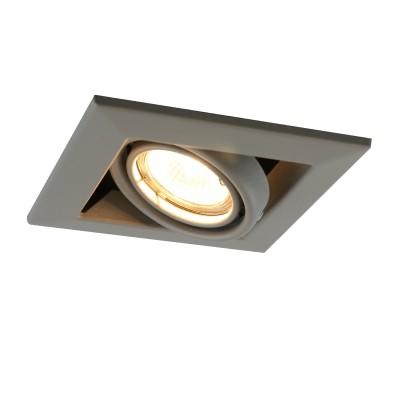 A5941PL-1GY Arte lamp СветильникКарданные<br><br><br>Тип лампы: галогенная/LED<br>Тип цоколя: GU10<br>Цвет арматуры: СЕРЫЙ<br>Количество ламп: 1<br>Диаметр, мм мм: 130<br>Размеры: 13x13x8<br>Диаметр врезного отверстия, мм: 10,3x10,3<br>Длина, мм: 130<br>Высота, мм: 80<br>MAX мощность ламп, Вт: 50W