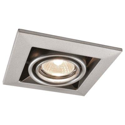 Светильник Arte lamp A5941PL-1SI TechnikaКарданные<br><br><br>S освещ. до, м2: 4<br>Тип лампы: галогенная<br>Тип цоколя: GU10<br>Количество ламп: 1<br>Ширина, мм: 126<br>Диаметр, мм мм: 126<br>Диаметр врезного отверстия, мм: 103<br>Высота, мм: 80<br>MAX мощность ламп, Вт: 50
