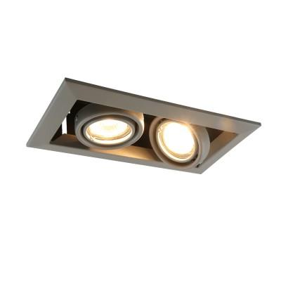 A5941PL-2GY Arte lamp СветильникКарданные<br><br><br>Тип лампы: галогенная/LED<br>Тип цоколя: GU10<br>Цвет арматуры: СЕРЫЙ<br>Количество ламп: 2<br>Диаметр, мм мм: 130<br>Размеры: 23x13x8<br>Диаметр врезного отверстия, мм: 22,5x10,3<br>Длина, мм: 250<br>Высота, мм: 80<br>MAX мощность ламп, Вт: 50W
