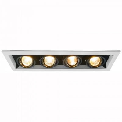 Светильник потолочный Arte lamp A5941PL-4WH CARDANIКарданные<br><br><br>Тип цоколя: GU10<br>Количество ламп: 4<br>MAX мощность ламп, Вт: 50<br>Размеры: H7xW12,6xL43,3<br>Цвет арматуры: белый