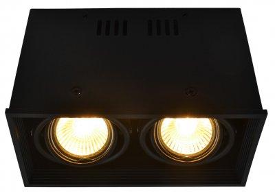 Светильник потолочный Arte lamp A5942PL-2BK CARDANIКарданные<br><br><br>Тип цоколя: GU10<br>Количество ламп: 2<br>MAX мощность ламп, Вт: 50<br>Размеры: H12xW10xL18,4<br>Цвет арматуры: черный