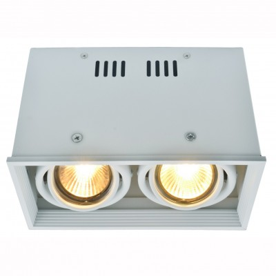 Светильник потолочный Arte lamp A5942PL-2WH CARDANIКарданные светильники<br><br><br>Тип цоколя: GU10<br>Цвет арматуры: белый<br>Количество ламп: 2<br>Размеры: H12xW10xL18,4<br>MAX мощность ламп, Вт: 50