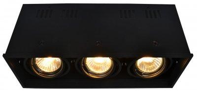 Светильник потолочный Arte lamp A5942PL-3BK CARDANIКарданные<br><br><br>Тип цоколя: GU10<br>Количество ламп: 3<br>MAX мощность ламп, Вт: 50<br>Размеры: H11xW10xL26,6<br>Цвет арматуры: черный