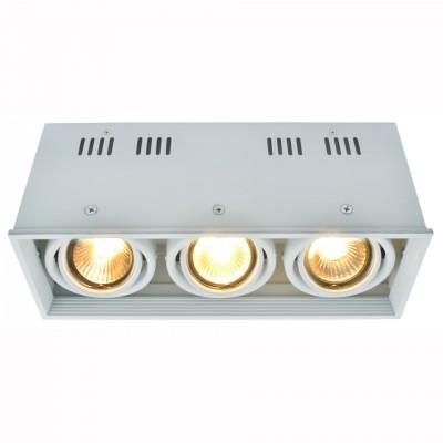 Светильник потолочный Arte lamp A5942PL-3WH CARDANIКарданные<br><br><br>Тип цоколя: GU10<br>Цвет арматуры: белый<br>Количество ламп: 3<br>Размеры: H11xW10xL26,6<br>MAX мощность ламп, Вт: 50