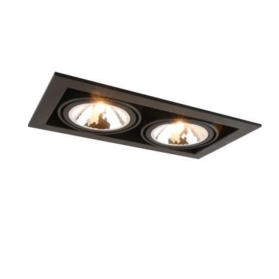 A5949PL-2BK Arte lamp СветильникКарданные<br><br><br>Тип лампы: галогенная/LED<br>Тип цоколя: G9<br>Количество ламп: 2<br>MAX мощность ламп, Вт: 40W<br>Диаметр, мм мм: 200<br>Размеры: 20x20x14<br>Диаметр врезного отверстия, мм: 31x16<br>Длина, мм: 350<br>Высота, мм: 80<br>Цвет арматуры: ЧЕРНЫЙ