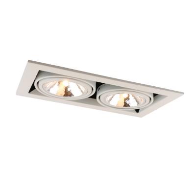 A5949PL-2WH Arte lamp СветильникКарданные<br><br><br>Тип лампы: галогенная/LED<br>Тип цоколя: G9<br>Цвет арматуры: БЕЛЫЙ<br>Количество ламп: 2<br>Диаметр, мм мм: 200<br>Размеры: 20x20x14<br>Диаметр врезного отверстия, мм: 31x16<br>Длина, мм: 350<br>Высота, мм: 80<br>MAX мощность ламп, Вт: 40W