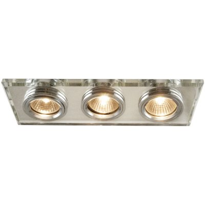 Светильник встраиваемый Arte lamp A5956PL-3CC Cool IceКвадратные<br><br><br>S освещ. до, м2: 10<br>Тип товара: Светильник потолочный<br>Скидка, %: 32<br>Тип лампы: галогенная<br>Тип цоколя: GU10<br>Количество ламп: 3<br>Ширина, мм: 255<br>MAX мощность ламп, Вт: 50<br>Диаметр, мм мм: 90<br>Размеры: H3,2xW9xL9<br>Диаметр врезного отверстия, мм: 235*68<br>Длина, мм: 255<br>Высота, мм: 110<br>Цвет арматуры: серебристый