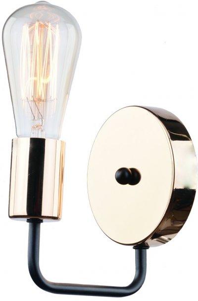 Светильник настенный бра Arte lamp A6001AP-1BK GeloМорской стиль<br><br><br>Тип лампы: Накаливания / энергосбережения / светодиодная<br>Тип цоколя: E14<br>Цвет арматуры: черный<br>Количество ламп: 1<br>Размеры: H16xW15xL12<br>MAX мощность ламп, Вт: 40