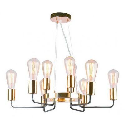 Светильник Arte lamp A6001LM-9BK Geloподвесные люстры лофт<br>Компания «Светодом» предлагает широкий ассортимент люстр от известных производителей. Представленные в нашем каталоге товары выполнены из современных материалов и обладают отличным качеством. Благодаря широкому ассортименту Вы сможете найти у нас люстру под любой интерьер. Мы предлагаем как классические варианты, так и современные модели, отличающиеся лаконичностью и простотой форм.  Стильная люстра Arte lamp A6001LM-9BK станет украшением любого дома. Эта модель от известного производителя не оставит равнодушным ценителей красивых и оригинальных предметов интерьера. Люстра Arte lamp A6001LM-9BK обеспечит равномерное распределение света по всей комнате. При выборе обратите внимание на характеристики, позволяющие приобрести наиболее подходящую модель. Купить понравившуюся люстру по доступной цене Вы можете в интернет-магазине «Светодом». Мы предлагаем доставку не только по Москве и Екатеринбурге, но и по всей России.<br><br>Установка на натяжной потолок: Да<br>S освещ. до, м2: 18<br>Крепление: Планка<br>Тип лампы: Накаливания / энергосбережения / светодиодная<br>Тип цоколя: E14<br>Цвет арматуры: черный<br>Количество ламп: 9<br>Диаметр, мм мм: 600<br>Размеры: H25xW60xL60+шн/цп60<br>Высота, мм: 250 - 600<br>MAX мощность ламп, Вт: 40