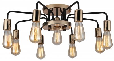 Купить Светильник Arte Lamp A6001PL-9BK, ARTELamp, Италия