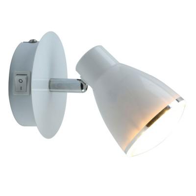 Светильник настенный Arte lamp A6008AP-1WH Giovedодиночные споты<br><br><br>Цветовая t, К: 3000K<br>Тип лампы: LED<br>Тип цоколя: LED<br>Цвет арматуры: БЕЛЫЙ<br>Количество ламп: 1<br>Диаметр, мм мм: 70<br>Размеры: 10*14*8<br>Длина, мм: 100<br>Высота, мм: 140<br>MAX мощность ламп, Вт: 5W<br>Общая мощность, Вт: 5W