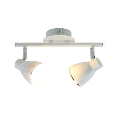 Светильник потолочный Arte lamp A6008PL-2WH Giovedдвойные светильники споты<br><br><br>Цветовая t, К: 3000K<br>Тип лампы: LED<br>Тип цоколя: LED<br>Цвет арматуры: БЕЛЫЙ<br>Количество ламп: 2<br>Диаметр, мм мм: 100<br>Размеры: 33x10x15<br>Длина, мм: 270<br>Высота, мм: 150<br>MAX мощность ламп, Вт: 5W<br>Общая мощность, Вт: 5W
