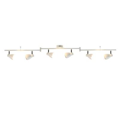 A6008PL-6WH Arte lamp СветильникБолее 5 ламп<br><br><br>Цветовая t, К: 3000K<br>Тип лампы: LED<br>Тип цоколя: LED<br>Цвет арматуры: БЕЛЫЙ<br>Количество ламп: 6<br>Диаметр, мм мм: 100<br>Размеры: 100x8x15<br>Длина, мм: 1400<br>Высота, мм: 150<br>MAX мощность ламп, Вт: 5W<br>Общая мощность, Вт: 5W