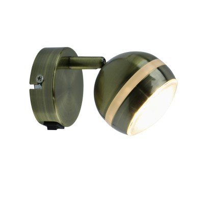 A6009AP-1AB Arte lamp СветильникОдиночные<br><br><br>Цветовая t, К: 3000K<br>Тип лампы: LED<br>Тип цоколя: LED<br>Цвет арматуры: античный бронзовый<br>Количество ламп: 1<br>Диаметр, мм мм: 80<br>Размеры: 10*14*8<br>Длина, мм: 140<br>Высота, мм: 90<br>MAX мощность ламп, Вт: 5W<br>Общая мощность, Вт: 5W