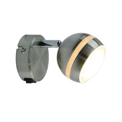 A6009AP-1SS Arte lamp СветильникОдиночные<br><br><br>Цветовая t, К: 3000K<br>Тип лампы: LED<br>Тип цоколя: LED<br>Цвет арматуры: Серебристый матовый<br>Количество ламп: 1<br>Диаметр, мм мм: 80<br>Размеры: 10*14*8<br>Длина, мм: 140<br>Высота, мм: 90<br>MAX мощность ламп, Вт: 5W<br>Общая мощность, Вт: 5W