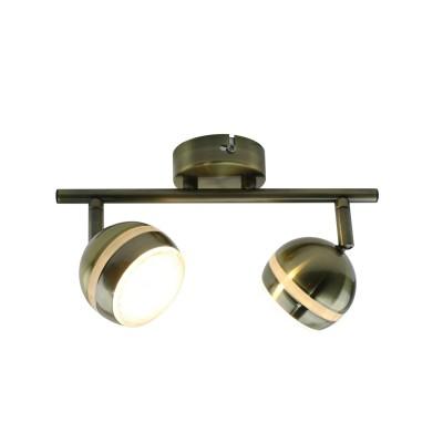 A6009PL-2AB Arte lamp СветильникДвойные<br><br><br>Цветовая t, К: 3000K<br>Тип лампы: LED<br>Тип цоколя: LED<br>Цвет арматуры: античный бронзовый<br>Количество ламп: 2<br>Диаметр, мм мм: 80<br>Размеры: 33x10x15<br>Длина, мм: 280<br>Высота, мм: 160<br>MAX мощность ламп, Вт: 5W<br>Общая мощность, Вт: 5W