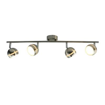 A6009PL-4SS Arte lamp СветильникС 4 лампами<br><br><br>Цветовая t, К: 3000K<br>Тип лампы: LED<br>Тип цоколя: LED<br>Цвет арматуры: Серебристый матовый<br>Количество ламп: 4<br>Диаметр, мм мм: 80<br>Размеры: 75x8x15<br>Длина, мм: 700<br>Высота, мм: 160<br>MAX мощность ламп, Вт: 5W<br>Общая мощность, Вт: 5W
