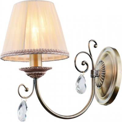Светильник Arte lamp A6021AP-1AB VIVIDOКлассические<br><br><br>Тип лампы: Накаливания / энергосбережения / светодиодная<br>Тип цоколя: E14<br>Цвет арматуры: бронзовый<br>Количество ламп: 1<br>Размеры: H30xW30xL20<br>MAX мощность ламп, Вт: 40