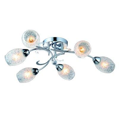Люстра Arte lamp A6055PL-6CC DeboraПотолочные<br>Отличную модель светильника Arte lamp A6055PL-6CC из серии DEBORA производства Италии возможно купить оптом и в розницу на официальном сайте интернет-магазина Светодом.<br><br>Установка на натяжной потолок: Ограничено<br>S освещ. до, м2: 24<br>Крепление: Планка<br>Тип лампы: накаливания / энергосбережения / LED-светодиодная<br>Тип цоколя: E14<br>Количество ламп: 6<br>MAX мощность ламп, Вт: 60<br>Диаметр, мм мм: 750<br>Высота, мм: 140