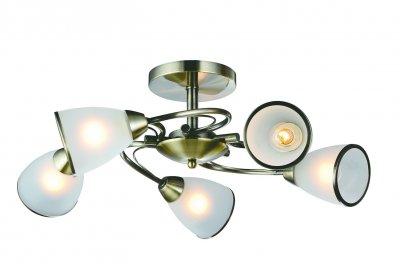 Светильник Arte lamp A6056PL-5AB INNOCENTEПотолочные<br>Компания «Светодом» предлагает широкий ассортимент люстр от известных производителей. Представленные в нашем каталоге товары выполнены из современных материалов и обладают отличным качеством. Благодаря широкому ассортименту Вы сможете найти у нас люстру под любой интерьер. Мы предлагаем как классические варианты, так и современные модели, отличающиеся лаконичностью и простотой форм.  Стильная люстра Arte lamp A6056PL-5AB станет украшением любого дома. Эта модель от известного производителя не оставит равнодушным ценителей красивых и оригинальных предметов интерьера. Люстра Arte lamp A6056PL-5AB обеспечит равномерное распределение света по всей комнате. При выборе обратите внимание на характеристики, позволяющие приобрести наиболее подходящую модель. Купить понравившуюся люстру по доступной цене Вы можете в интернет-магазине «Светодом».<br><br>Установка на натяжной потолок: Ограничено<br>S освещ. до, м2: 15<br>Крепление: Планка<br>Тип лампы: Накаливания / энергосбережения / светодиодная<br>Тип цоколя: E14<br>Количество ламп: 5<br>MAX мощность ламп, Вт: 60<br>Размеры: H24xW57xL57<br>Цвет арматуры: бронзовый