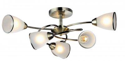 Светильник Arte lamp A6059PL-6AB INNOCENTEПотолочные<br>Компания «Светодом» предлагает широкий ассортимент люстр от известных производителей. Представленные в нашем каталоге товары выполнены из современных материалов и обладают отличным качеством. Благодаря широкому ассортименту Вы сможете найти у нас люстру под любой интерьер. Мы предлагаем как классические варианты, так и современные модели, отличающиеся лаконичностью и простотой форм.  Стильная люстра Arte lamp A6059PL-6AB станет украшением любого дома. Эта модель от известного производителя не оставит равнодушным ценителей красивых и оригинальных предметов интерьера. Люстра Arte lamp A6059PL-6AB обеспечит равномерное распределение света по всей комнате. При выборе обратите внимание на характеристики, позволяющие приобрести наиболее подходящую модель. Купить понравившуюся люстру по доступной цене Вы можете в интернет-магазине «Светодом».<br><br>Установка на натяжной потолок: Ограничено<br>S освещ. до, м2: 18<br>Крепление: Планка<br>Тип лампы: Накаливания / энергосбережения / светодиодная<br>Тип цоколя: E14<br>Количество ламп: 6<br>MAX мощность ламп, Вт: 60<br>Размеры: H32xW86xL86<br>Цвет арматуры: бронзовый