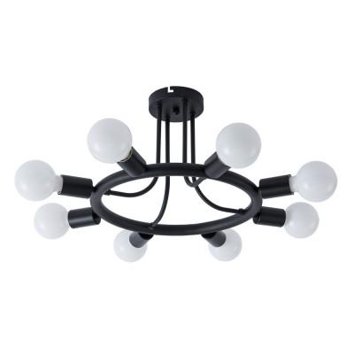 Светильник Arte Lamp A6063PL-8BKлюстры лофт потолочные<br>Светильник Arte Lamp A6063PL-8BK сразу же привлечет внимание благодаря своему необычному лофтовому дизайну и брутальному исполнению. Модель выполнена из качественных материалов, что обеспечивает ее надежную и долговечную работу. Такой вариант светильника можно использовать для интерьера не только гостиной, но и спальни или кабинета.