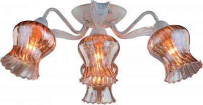 Светильник Arte lamp A6098PL-4WG CHIARAПотолочные<br><br><br>Установка на натяжной потолок: Ограничено<br>S освещ. до, м2: 8<br>Крепление: Планка<br>Тип товара: Светильник потолочный<br>Тип лампы: Накаливания / энергосбережения / светодиодная<br>Тип цоколя: E14<br>Количество ламп: 4<br>MAX мощность ламп, Вт: 40<br>Размеры: H21xW57xL57<br>Цвет арматуры: белый с золотистой патиной