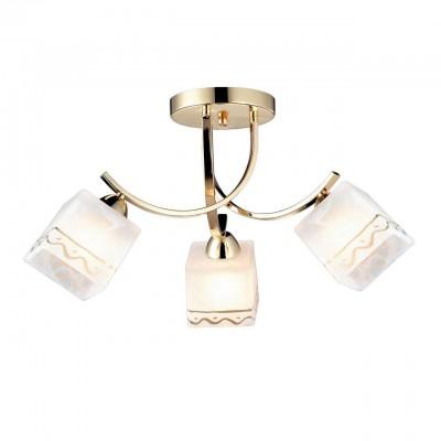 Светильник Arte lamp A6119PL-3GO MODELLOПотолочные<br><br><br>Установка на натяжной потолок: Да<br>S освещ. до, м2: 9<br>Крепление: Планка<br>Тип лампы: Накаливания / энергосбережения / светодиодная<br>Тип цоколя: E27<br>Цвет арматуры: Золотой<br>Количество ламп: 3<br>Диаметр, мм мм: 600<br>Размеры: H27xW60xL60<br>Высота, мм: 270<br>MAX мощность ламп, Вт: 60