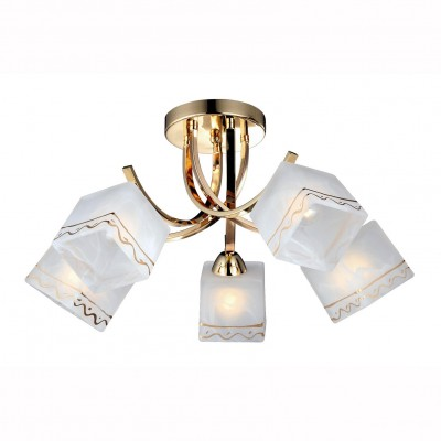 Светильник Arte lamp A6119PL-5GO MODELLOПотолочные<br><br><br>Установка на натяжной потолок: Да<br>S освещ. до, м2: 15<br>Крепление: Планка<br>Тип цоколя: E27<br>Цвет арматуры: Золотой<br>Количество ламп: 5<br>Диаметр, мм мм: 600<br>Размеры: H27xW60xL60<br>Высота, мм: 270<br>MAX мощность ламп, Вт: 60