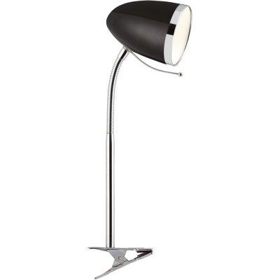 Настольная лампа на прищепке Arte lamp A6155LT-1BK CosyНа прищепке<br>Настольная лампа – это не просто источник дополнительного освещения, но и оригинальный элемент декора. Его можно установить в спальне, гостиной, кабинете и других комнатах. Интернет-магазин «Светодом» предлагает настольные лампы разных стилей по доступным ценам. Благодаря большому ассортименту Вы обязательно найдете в нашем каталоге именно ту модель, которую искали.   Настольная лампа Arte lamp A6155LT-1BK – прекрасный вариант для завершения интерьера. Ее можно включить одновременно с люстрой для более яркого освещения или без нее для создания уютной атмосферы, настраивающей на отдых.   Купить настольную лампу Arte lamp A6155LT-1BK Вы можете с помощью виртуальной «Корзины» или по контактным номерам, указанным на сайте.<br><br>S освещ. до, м2: 2<br>Тип лампы: накаливания / энергосбережения / LED-светодиодная<br>Тип цоколя: E27<br>Количество ламп: 1<br>MAX мощность ламп, Вт: 40<br>Диаметр, мм мм: 970<br>Высота, мм: 420<br>Оттенок (цвет): черный<br>Цвет арматуры: черный