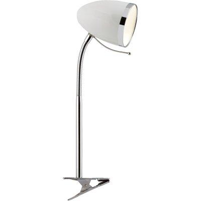 Настольная лампа на прищепке Arte lamp A6155LT-1WH CosyНа прищепке<br>Настольная лампа – это не просто источник дополнительного освещения, но и оригинальный элемент декора. Его можно установить в спальне, гостиной, кабинете и других комнатах. Интернет-магазин «Светодом» предлагает настольные лампы разных стилей по доступным ценам. Благодаря большому ассортименту Вы обязательно найдете в нашем каталоге именно ту модель, которую искали. <br> Настольная лампа Arte lamp A6155LT-1WH – прекрасный вариант для завершения интерьера. Ее можно включить одновременно с люстрой для более яркого освещения или без нее для создания уютной атмосферы, настраивающей на отдых. <br> Купить настольную лампу Arte lamp A6155LT-1WH Вы можете с помощью виртуальной «Корзины» или по контактным номерам, указанным на сайте.<br><br>S освещ. до, м2: 2<br>Тип лампы: накаливания / энергосбережения / LED-светодиодная<br>Тип цоколя: E27<br>Цвет арматуры: белый<br>Количество ламп: 1<br>Диаметр, мм мм: 970<br>Высота, мм: 420<br>Оттенок (цвет): белый<br>MAX мощность ламп, Вт: 40