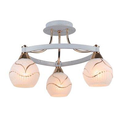 Люстра Arte lamp A6173PL-3WG DaniellaПотолочные<br>Отличную модель светильника Arte lamp A6173PL-3WG из серии DANIELLA производства Италии возможно купить оптом и в розницу на официальном сайте интернет-магазина Светодом.<br><br>Установка на натяжной потолок: Да<br>S освещ. до, м2: 12<br>Крепление: Планка<br>Тип лампы: накаливания / энергосбережения / LED-светодиодная<br>Тип цоколя: E27<br>Цвет арматуры: белый с золотистой патиной<br>Количество ламп: 3<br>Диаметр, мм мм: 460<br>Высота, мм: 300<br>MAX мощность ламп, Вт: 60