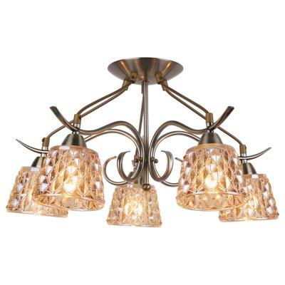 Люстра Arte lamp A6185PL-5AB GemmaПотолочные<br>Отличную модель светильника Arte lamp A6185PL-5AB из серии GEMMA производства Италии возможно купить оптом и в розницу на официальном сайте интернет-магазина Светодом.<br><br>Установка на натяжной потолок: Да<br>S освещ. до, м2: 20<br>Крепление: Планка<br>Тип лампы: накаливания / энергосбережения / LED-светодиодная<br>Тип цоколя: E14<br>Цвет арматуры: бронзовый<br>Количество ламп: 5<br>Диаметр, мм мм: 51<br>Высота, мм: 32<br>MAX мощность ламп, Вт: 60