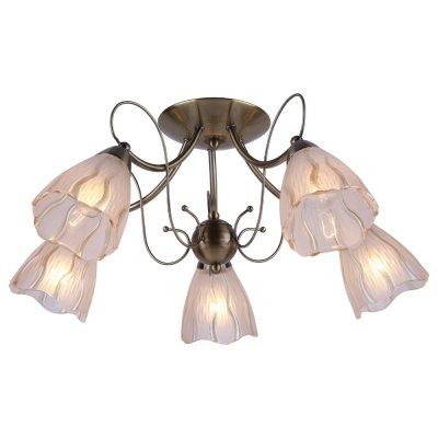 Люстра Arte lamp A6189PL-5AB MonicaПотолочные<br>Отличную модель светильника Arte lamp A6189PL-5AB из серии MONICA производства Италии возможно купить оптом и в розницу на официальном сайте интернет-магазина Светодом.<br><br>Установка на натяжной потолок: Ограничено<br>S освещ. до, м2: 20<br>Крепление: Планка<br>Тип лампы: накаливания / энергосбережения / LED-светодиодная<br>Тип цоколя: E14<br>Количество ламп: 5<br>MAX мощность ламп, Вт: 60<br>Диаметр, мм мм: 59<br>Высота, мм: 25<br>Цвет арматуры: бронзовый