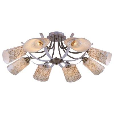 Люстра Arte lamp A6212PL-8WG LeticiaПотолочные<br>Отличную модель светильника Arte lamp A6212PL-8WG из серии LETICIA производства Италии возможно купить оптом и в розницу на официальном сайте интернет-магазина Светодом.<br><br>Установка на натяжной потолок: Да<br>S освещ. до, м2: 32<br>Крепление: Планка<br>Тип лампы: накаливания / энергосбережения / LED-светодиодная<br>Тип цоколя: E14<br>Цвет арматуры: белый с золотистой патиной<br>Количество ламп: 8<br>Диаметр, мм мм: 800<br>Высота, мм: 300<br>MAX мощность ламп, Вт: 60