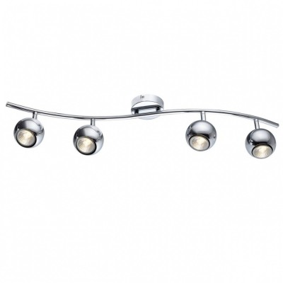 Светильник потолочный Arte lamp A6251PL-4CC PIATTOС 4 лампами<br>Светильники-споты – это оригинальные изделия с современным дизайном. Они позволяют не ограничивать свою фантазию при выборе освещения для интерьера. Такие модели обеспечивают достаточно качественный свет. Благодаря компактным размерам Вы можете использовать несколько спотов для одного помещения.  Интернет-магазин «Светодом» предлагает необычный светильник-спот ARTE Lamp A6251PL-4CC по привлекательной цене. Эта модель станет отличным дополнением к люстре, выполненной в том же стиле. Перед оформлением заказа изучите характеристики изделия.  Купить светильник-спот ARTE Lamp A6251PL-4CC в нашем онлайн-магазине Вы можете либо с помощью формы на сайте, либо по указанным выше телефонам. Обратите внимание, что у нас склады не только в Москве и Екатеринбурге, но и других городах России.<br><br>S освещ. до, м2: 10<br>Тип цоколя: GU10<br>Цвет арматуры: серебристый<br>Количество ламп: 4<br>Размеры: H16xW9xL75<br>MAX мощность ламп, Вт: 50