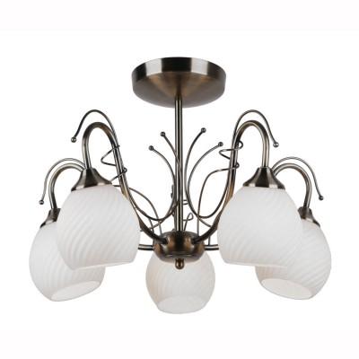 Светильник потолочный Arte lamp A6285PL-5AB GIROПотолочные<br>Компания «Светодом» предлагает широкий ассортимент люстр от известных производителей. Представленные в нашем каталоге товары выполнены из современных материалов и обладают отличным качеством. Благодаря широкому ассортименту Вы сможете найти у нас люстру под любой интерьер. Мы предлагаем как классические варианты, так и современные модели, отличающиеся лаконичностью и простотой форм.  Стильная люстра Arte lamp A6285PL-5AB станет украшением любого дома. Эта модель от известного производителя не оставит равнодушным ценителей красивых и оригинальных предметов интерьера. Люстра Arte lamp A6285PL-5AB обеспечит равномерное распределение света по всей комнате. При выборе обратите внимание на характеристики, позволяющие приобрести наиболее подходящую модель. Купить понравившуюся люстру по доступной цене Вы можете в интернет-магазине «Светодом».<br><br>Установка на натяжной потолок: Да<br>S освещ. до, м2: 10<br>Тип цоколя: E14<br>Цвет арматуры: античный бронзовый<br>Количество ламп: 5<br>Диаметр, мм мм: 510<br>Размеры: H36xW51xL51<br>Высота, мм: 360<br>MAX мощность ламп, Вт: 40