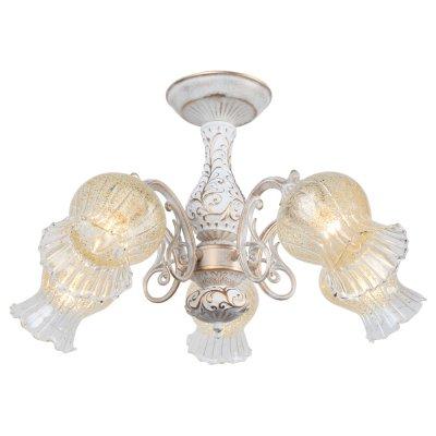 Светильник Arte lamp A6336PL-5WG GemmaПотолочные<br>Компания «Светодом» предлагает широкий ассортимент люстр от известных производителей. Представленные в нашем каталоге товары выполнены из современных материалов и обладают отличным качеством. Благодаря широкому ассортименту Вы сможете найти у нас люстру под любой интерьер. Мы предлагаем как классические варианты, так и современные модели, отличающиеся лаконичностью и простотой форм.  Стильная люстра Arte lamp A6336PL-5WG станет украшением любого дома. Эта модель от известного производителя не оставит равнодушным ценителей красивых и оригинальных предметов интерьера. Люстра Arte lamp A6336PL-5WG обеспечит равномерное распределение света по всей комнате. При выборе обратите внимание на характеристики, позволяющие приобрести наиболее подходящую модель. Купить понравившуюся люстру по доступной цене Вы можете в интернет-магазине «Светодом».<br><br>Установка на натяжной потолок: Да<br>S освещ. до, м2: 10<br>Крепление: Планка<br>Тип лампы: Накаливания / энергосбережения / светодиодная<br>Тип цоколя: E14<br>Количество ламп: 5<br>MAX мощность ламп, Вт: 40<br>Диаметр, мм мм: 610<br>Высота, мм: 370<br>Цвет арматуры: белый с золотистой патиной
