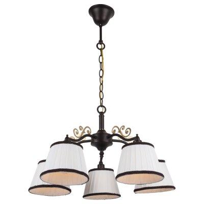 Светильник Arte lamp A6344LM-5BR CapriПодвесные<br>Компания «Светодом» предлагает широкий ассортимент люстр от известных производителей. Представленные в нашем каталоге товары выполнены из современных материалов и обладают отличным качеством. Благодаря широкому ассортименту Вы сможете найти у нас люстру под любой интерьер. Мы предлагаем как классические варианты, так и современные модели, отличающиеся лаконичностью и простотой форм.  Стильная люстра Arte lamp A6344LM-5BR станет украшением любого дома. Эта модель от известного производителя не оставит равнодушным ценителей красивых и оригинальных предметов интерьера. Люстра Arte lamp A6344LM-5BR обеспечит равномерное распределение света по всей комнате. При выборе обратите внимание на характеристики, позволяющие приобрести наиболее подходящую модель. Купить понравившуюся люстру по доступной цене Вы можете в интернет-магазине «Светодом».<br><br>Установка на натяжной потолок: Да<br>S освещ. до, м2: 10<br>Крепление: Крюк<br>Тип лампы: Накаливания / энергосбережения / светодиодная<br>Тип цоколя: E14<br>Цвет арматуры: коричневый<br>Количество ламп: 5<br>Диаметр, мм мм: 550<br>Высота, мм: 310<br>MAX мощность ламп, Вт: 40