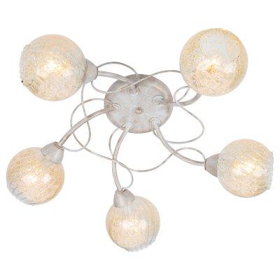 Светильник Arte lamp A6347PL-5WG GemmaПотолочные<br>Компания «Светодом» предлагает широкий ассортимент люстр от известных производителей. Представленные в нашем каталоге товары выполнены из современных материалов и обладают отличным качеством. Благодаря широкому ассортименту Вы сможете найти у нас люстру под любой интерьер. Мы предлагаем как классические варианты, так и современные модели, отличающиеся лаконичностью и простотой форм.  Стильная люстра Arte lamp A6347PL-5WG станет украшением любого дома. Эта модель от известного производителя не оставит равнодушным ценителей красивых и оригинальных предметов интерьера. Люстра Arte lamp A6347PL-5WG обеспечит равномерное распределение света по всей комнате. При выборе обратите внимание на характеристики, позволяющие приобрести наиболее подходящую модель. Купить понравившуюся люстру по доступной цене Вы можете в интернет-магазине «Светодом».<br><br>Установка на натяжной потолок: Ограничено<br>S освещ. до, м2: 10<br>Крепление: Планка<br>Тип лампы: Накаливания / энергосбережения / светодиодная<br>Тип цоколя: E14<br>Цвет арматуры: белый<br>Количество ламп: 5<br>Диаметр, мм мм: 620<br>Высота, мм: 170<br>MAX мощность ламп, Вт: 40