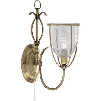 Светильник настенный Arte Lamp A6351AP-1AB SalvadorРустика<br><br><br>S освещ. до, м2: 4<br>Тип лампы: накаливания / энергосбережения / LED-светодиодная<br>Тип цоколя: E14<br>Цвет арматуры: бронзовый<br>Количество ламп: 1<br>Ширина, мм: 130<br>Диаметр, мм мм: 220<br>Высота, мм: 360<br>MAX мощность ламп, Вт: 60