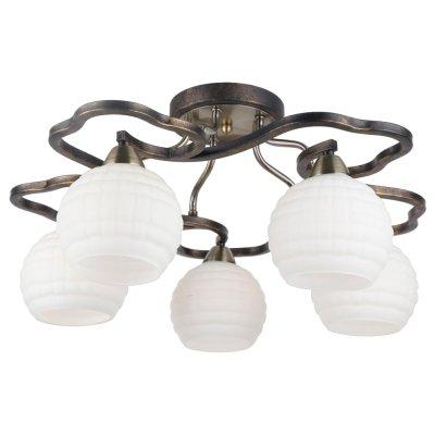 Светильник Arte lamp A6379PL-5GA LanaПотолочные<br>Компания «Светодом» предлагает широкий ассортимент люстр от известных производителей. Представленные в нашем каталоге товары выполнены из современных материалов и обладают отличным качеством. Благодаря широкому ассортименту Вы сможете найти у нас люстру под любой интерьер. Мы предлагаем как классические варианты, так и современные модели, отличающиеся лаконичностью и простотой форм.  Стильная люстра Arte lamp A6379PL-5GA станет украшением любого дома. Эта модель от известного производителя не оставит равнодушным ценителей красивых и оригинальных предметов интерьера. Люстра Arte lamp A6379PL-5GA обеспечит равномерное распределение света по всей комнате. При выборе обратите внимание на характеристики, позволяющие приобрести наиболее подходящую модель. Купить понравившуюся люстру по доступной цене Вы можете в интернет-магазине «Светодом».<br><br>Установка на натяжной потолок: Да<br>S освещ. до, м2: 10<br>Крепление: Планка<br>Тип лампы: Накаливания / энергосбережения / светодиодная<br>Тип цоколя: E14<br>Цвет арматуры: черный<br>Количество ламп: 5<br>Диаметр, мм мм: 540<br>Высота, мм: 270<br>MAX мощность ламп, Вт: 40