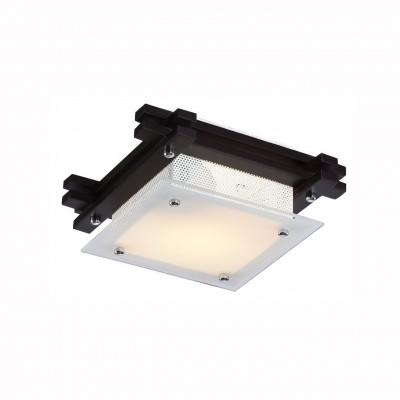 Светильник потолочный Arte lamp A6462PL-1CK ARCHIMEDEПотолочные<br><br><br>Установка на натяжной потолок: Ограничено<br>S освещ. до, м2: 1<br>Крепление: Планка<br>Тип лампы: Накаливания / энергосбережения / светодиодная<br>Тип цоколя: E14<br>Количество ламп: 1<br>MAX мощность ламп, Вт: 60<br>Размеры: H9xW23xL23<br>Цвет арматуры: коричневый